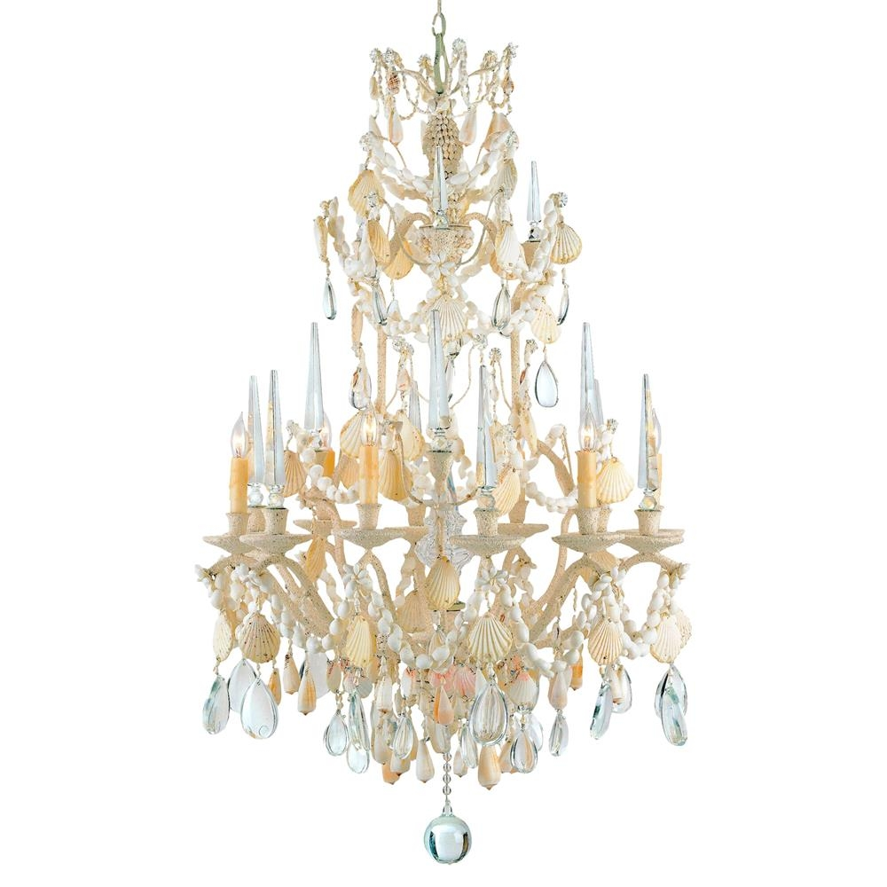 Crystal Seashell 6 Light Baroque 2 Tier Chandelier Kathy Kuo Home Within Baroque Chandelier (#8 of 12)
