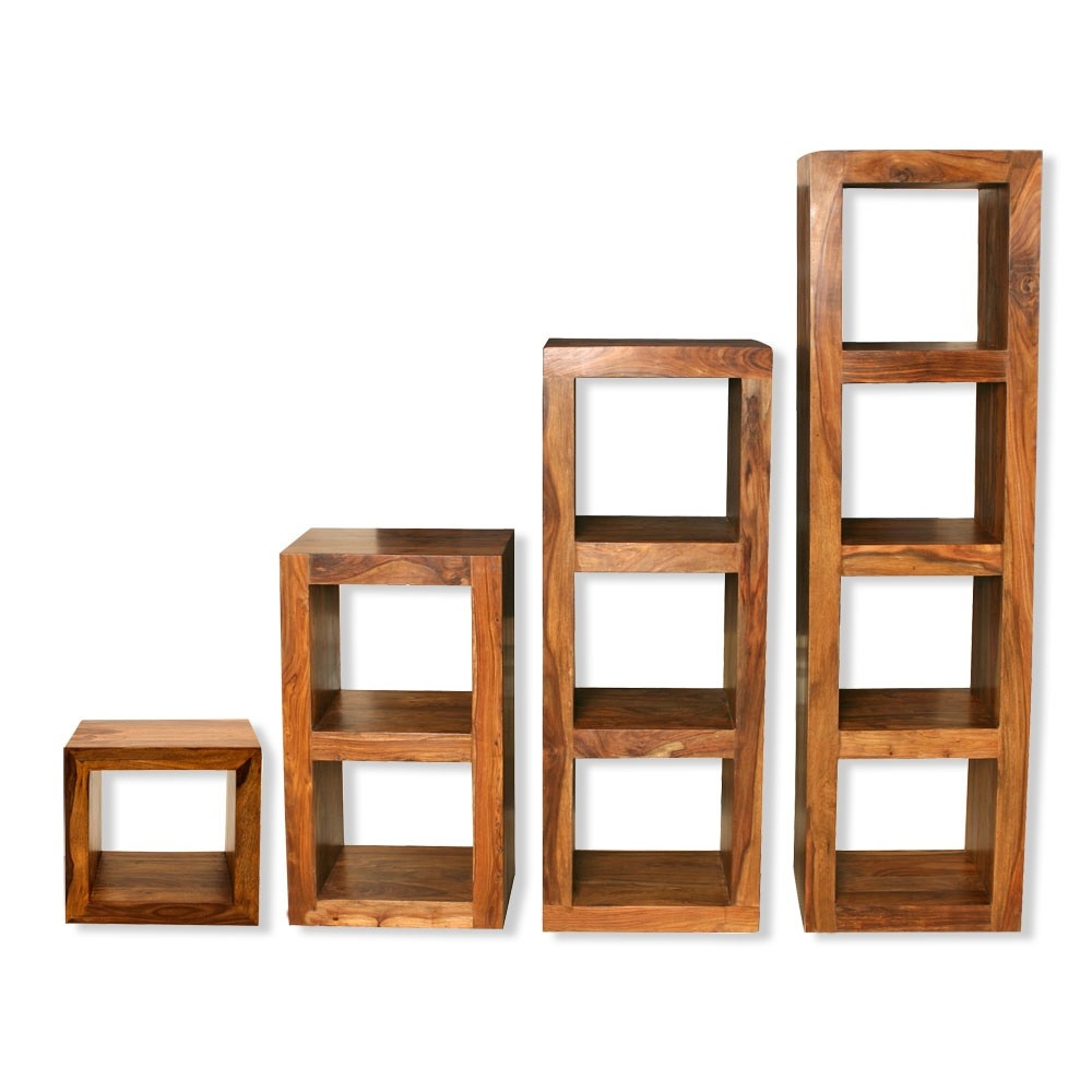 Cube Shelving Units Solid Sheesham Wood Shelving Units Living Within Wooden Shelving Units (#6 of 15)