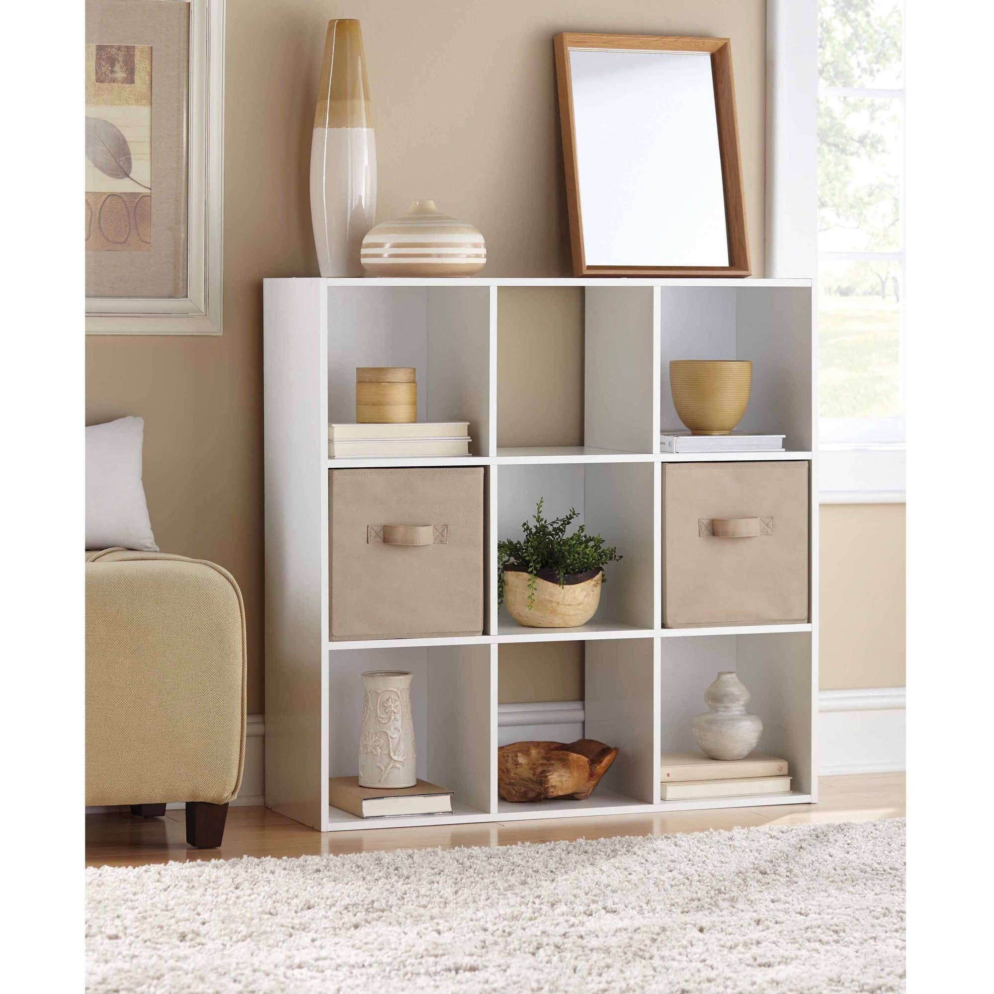 Cube Storage Units With Very Narrow Shelving Unit (#6 of 15)