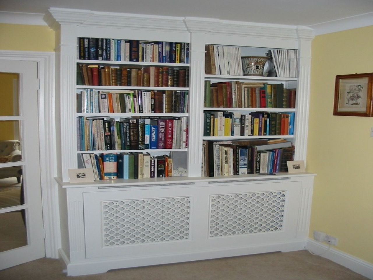 Cupboard Bookcase Radiator Bookcase Cover Over Radiator Cover Regarding Radiator Covers And Bookcases (#1 of 15)
