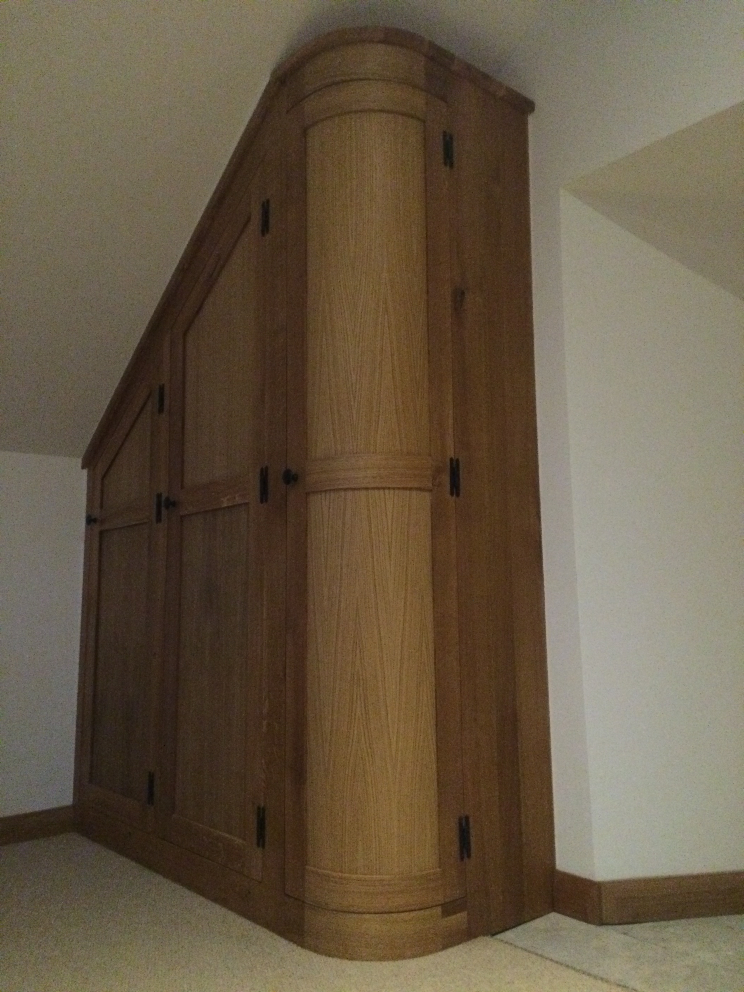 Curved Wardrobe Doors Create Real Interest In This Fitted Dressing Inside Curved Wardrobe Doors (View 10 of 15)