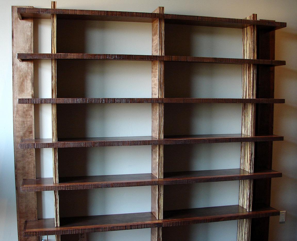 Custom Built In Bookshelves With Rolling Ladders Custom Home For Custom Made Bookshelf (#5 of 15)