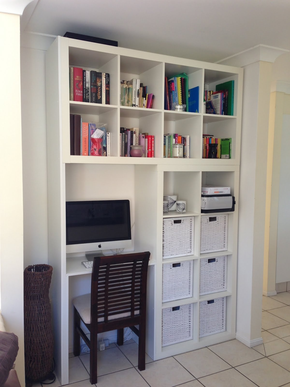 Custom Designed Wall Unitcomputer Deskbook Shelf Ikea Hackers With Regard To Desk With Matching Bookcase (#6 of 15)