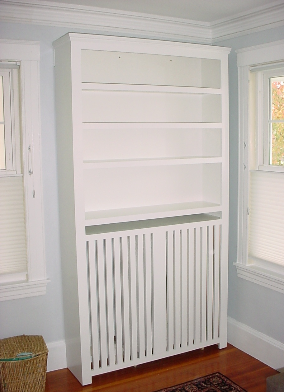 Custom Furniture Radiator Cover Bookcase In White Paint With Radiator Bookcase (View 1 of 15)