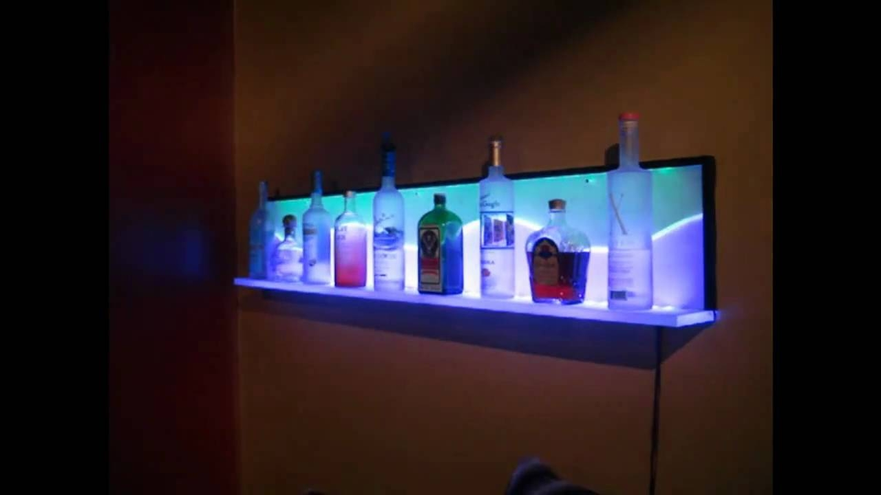 Custom Led Floating Wall Shelf Youtube Intended For Led Floating Glass Shelves (#1 of 12)