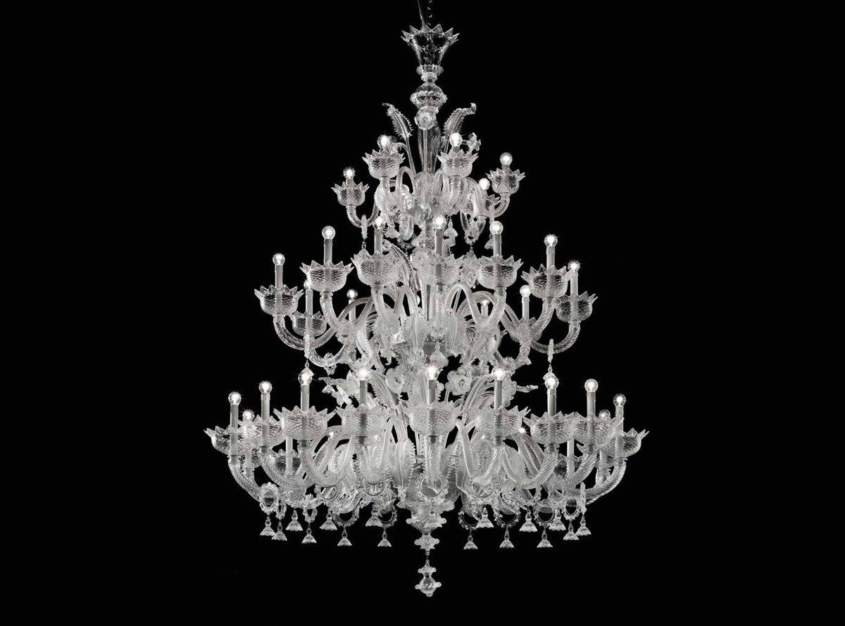 Custom Lighting Murano Glass Chandelier Venetian Ideas Glass Pertaining To Murano Chandelier (#4 of 12)