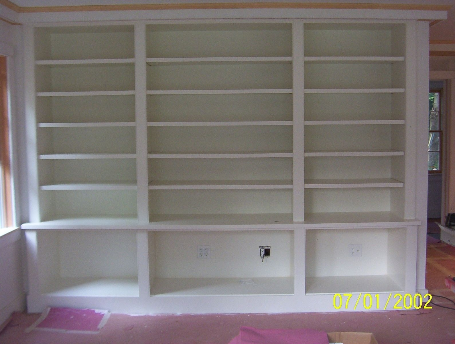 Custom Made Painted Built In Bookcase Brenda Hall Wood Design With Painted Wood Bookcase (#3 of 15)