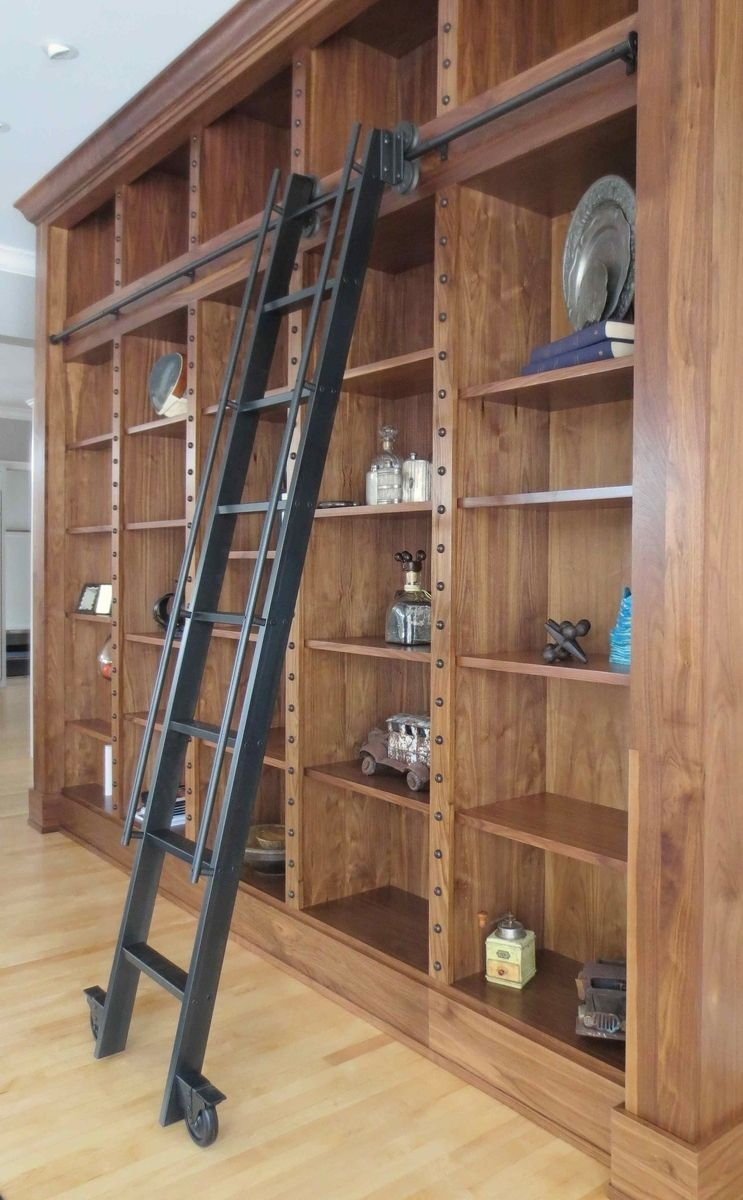 Custom Made Steel Rolling Library Ladder House Pinterest With Sliding Library Ladder (#4 of 15)