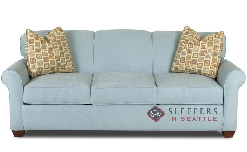 Customize And Personalize Calgary Queen Fabric Sofa Savvy Inside Sofa Beds Queen (#4 of 15)