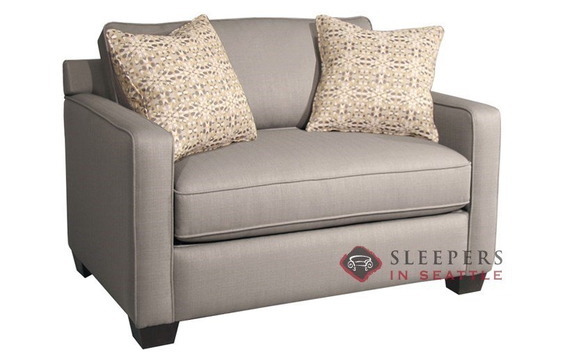 Customize And Personalize Parker Twin Fabric Sofa Fairmont With Regard To Loveseat Twin Sleeper Sofas (#4 of 15)