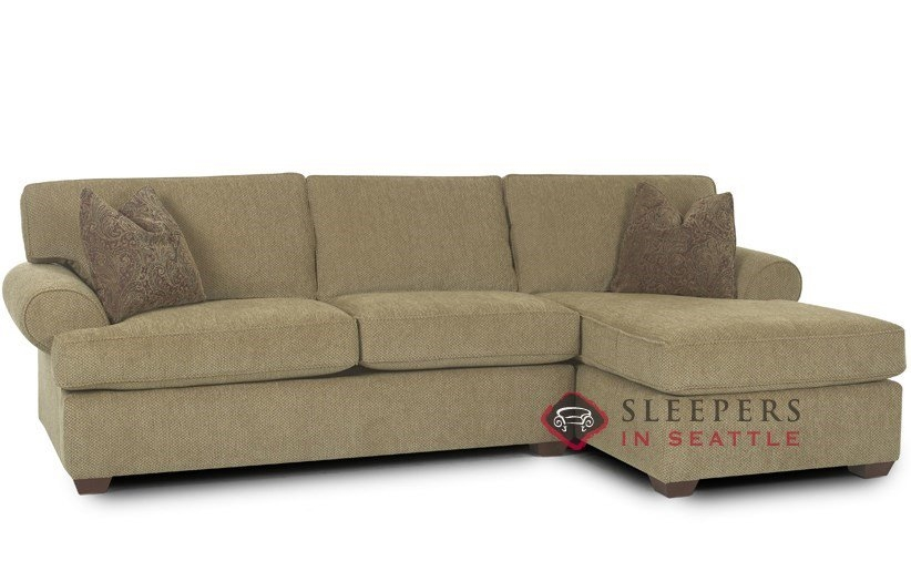 Customize And Personalize Tacoma Chaise Sectional Fabric Sofa Throughout Sectional Sofas With Sleeper And Chaise (#8 of 15)