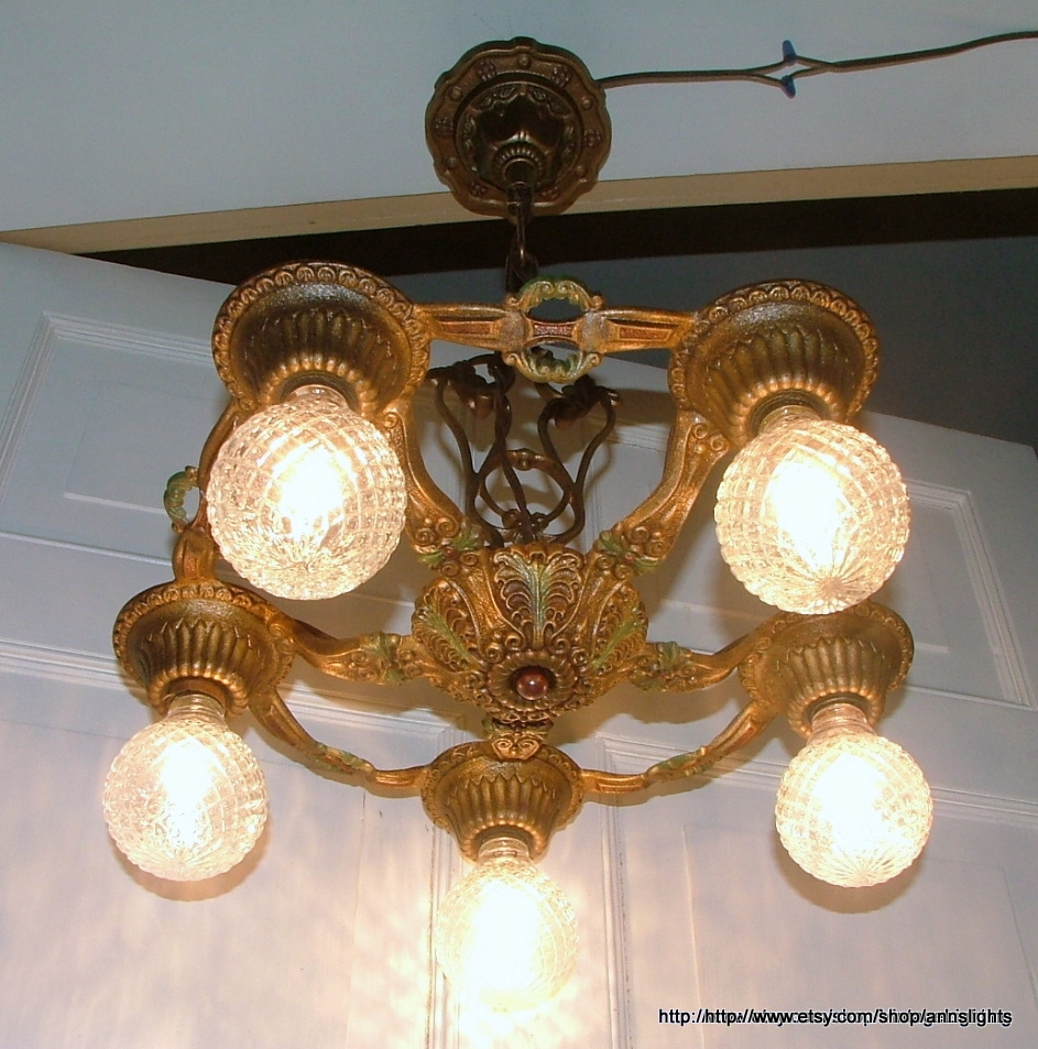 Popular Photo of Cast Iron Antique Chandelier