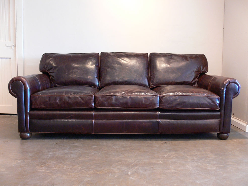 Decor Look Alikes Restoration Hardware Collins Leather Sofa Within Leather Sofas (#5 of 15)