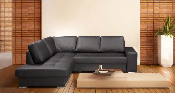 Decor Of Leather Corner Sofa Leather Corner Sofa Silfre Facil Intended For Large Black Leather Corner Sofas (#8 of 15)