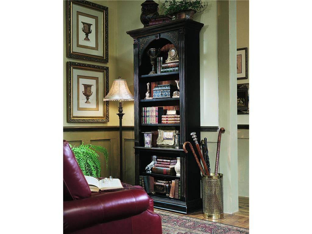 Decorations Stunning Black Vertical Wood Bookshelves Design Idea Pertaining To Classic Bookshelf Design (#7 of 15)