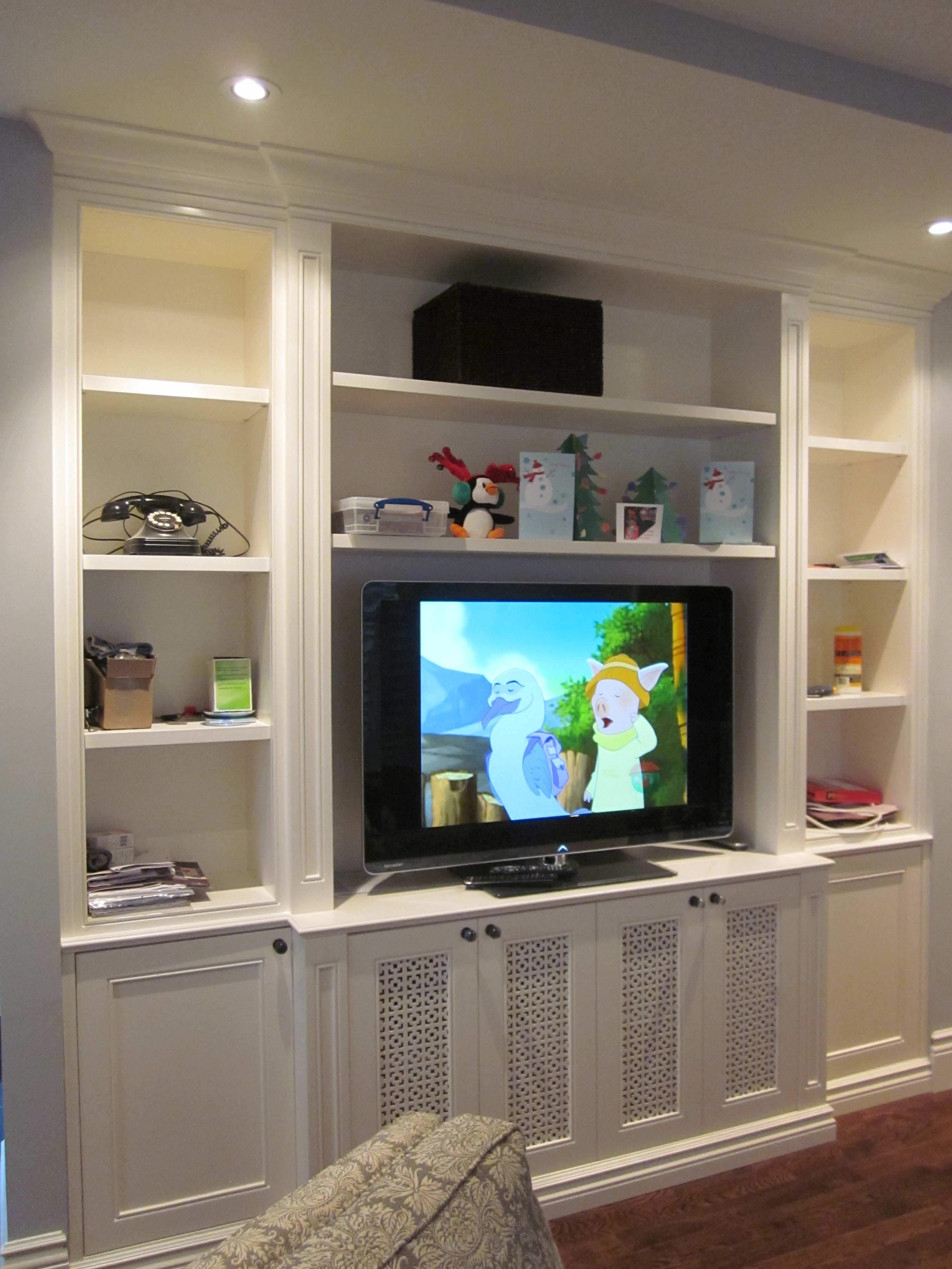 Decorations White Veneered Plywood Wall Mounted Tv Stand Over In Radiator Cover Tv Stand (View 3 of 15)