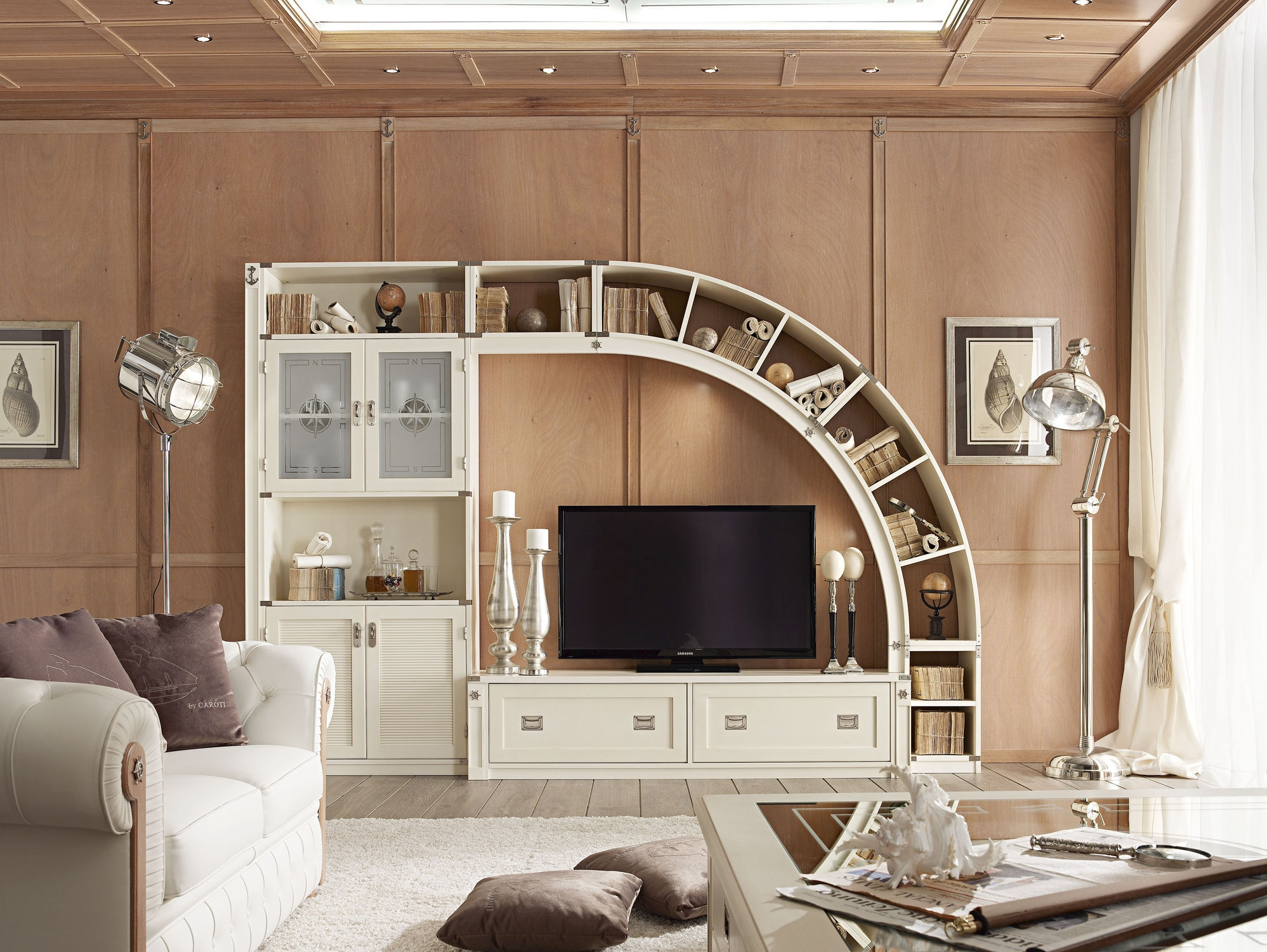 Decorationsamazing Tv Wall Unit With Carving Wooden Bookcase At Throughout Tv Unit With Bookcase (View 13 of 15)