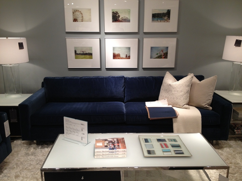 Deep Sectional Sofa Is Flexible Seating Capacity New Lighting With Regard To Dark Blue Sofas (#11 of 15)