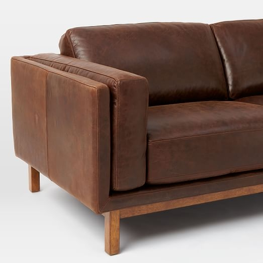 Dekalb Leather Sofa 96 West Elm Throughout Aniline Leather Sofas (#8 of 15)