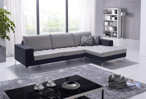 Dekin Two Toned Sectional Sofa 134999 Contemporary Living With Two Tone Sofas (View 8 of 15)