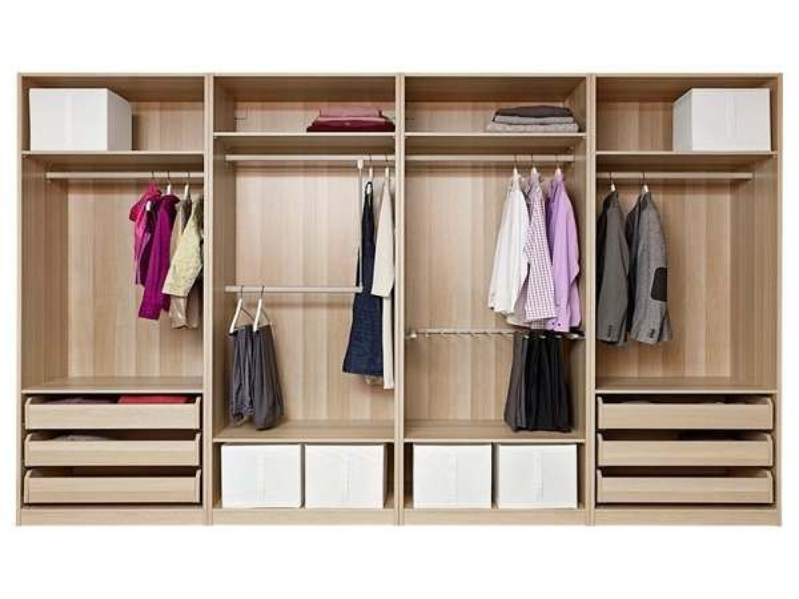 Delightful Drawers For Closet Roselawnlutheran Pertaining To Wardrobe With Shelves And Drawers (View 7 of 15)