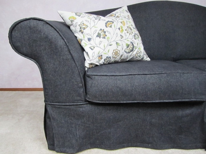 Denim Couch Slipcover Couch Slipcovers Pinterest More Couch With Regard To Black Slipcovers For Sofas (#11 of 15)