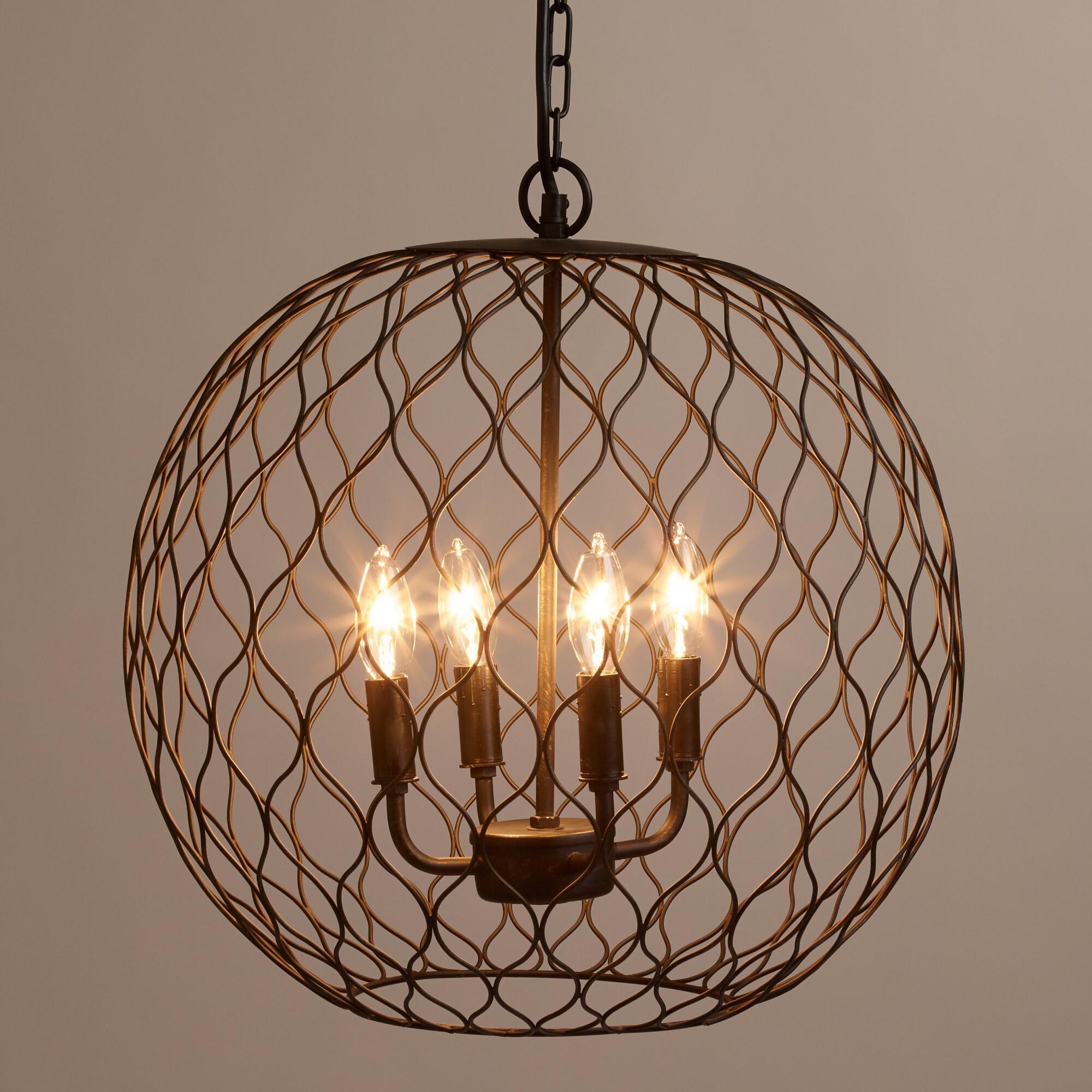 Modern Chandelier Lighting Globe 4 Lights Wood Ceiling: 12 Ideas Of Chandelier Globe