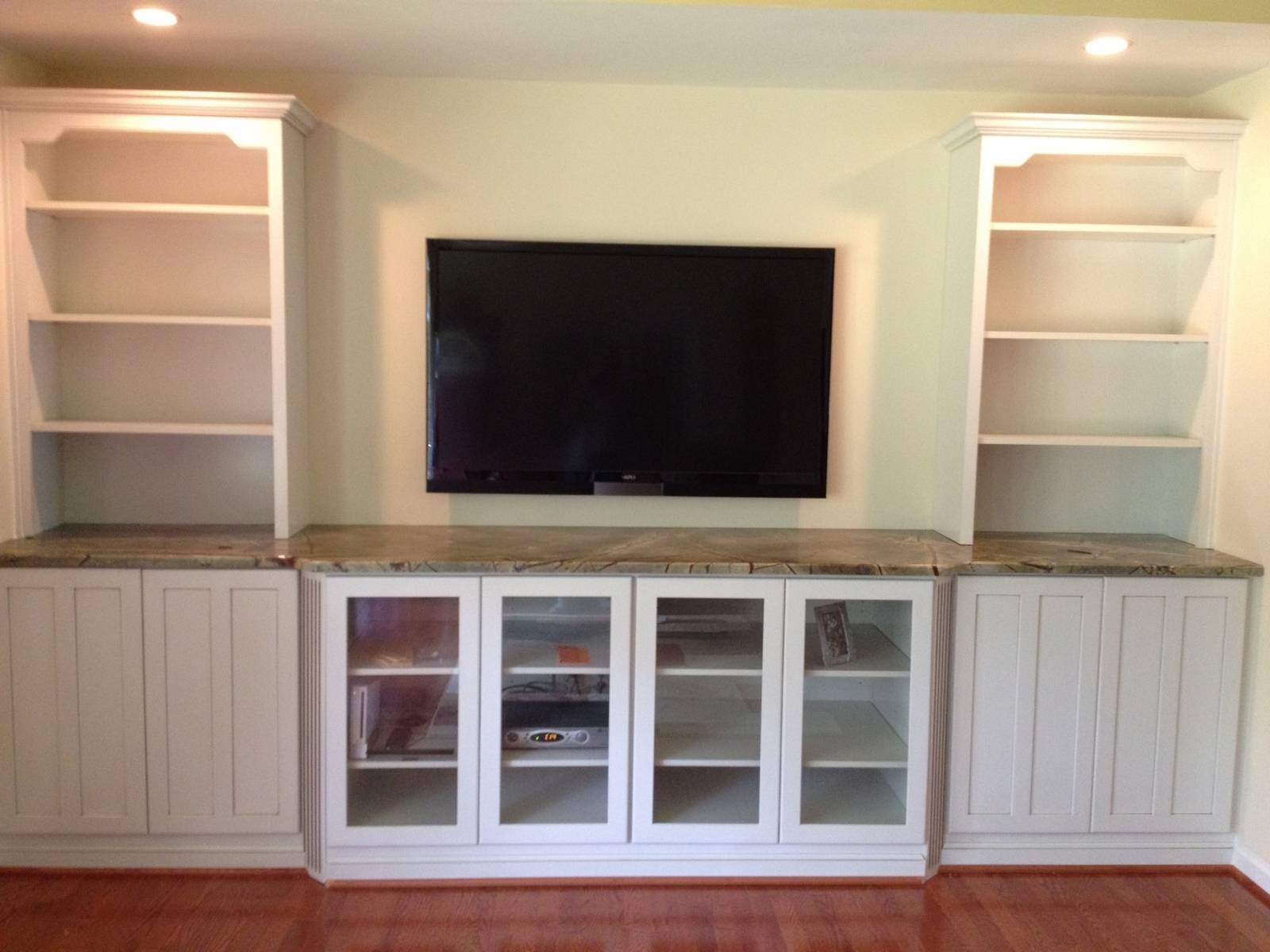 Dining Room Built In Wall Unit Hand Crafted Built In Tv Wall In Bookcase With Tv Storage (#6 of 15)