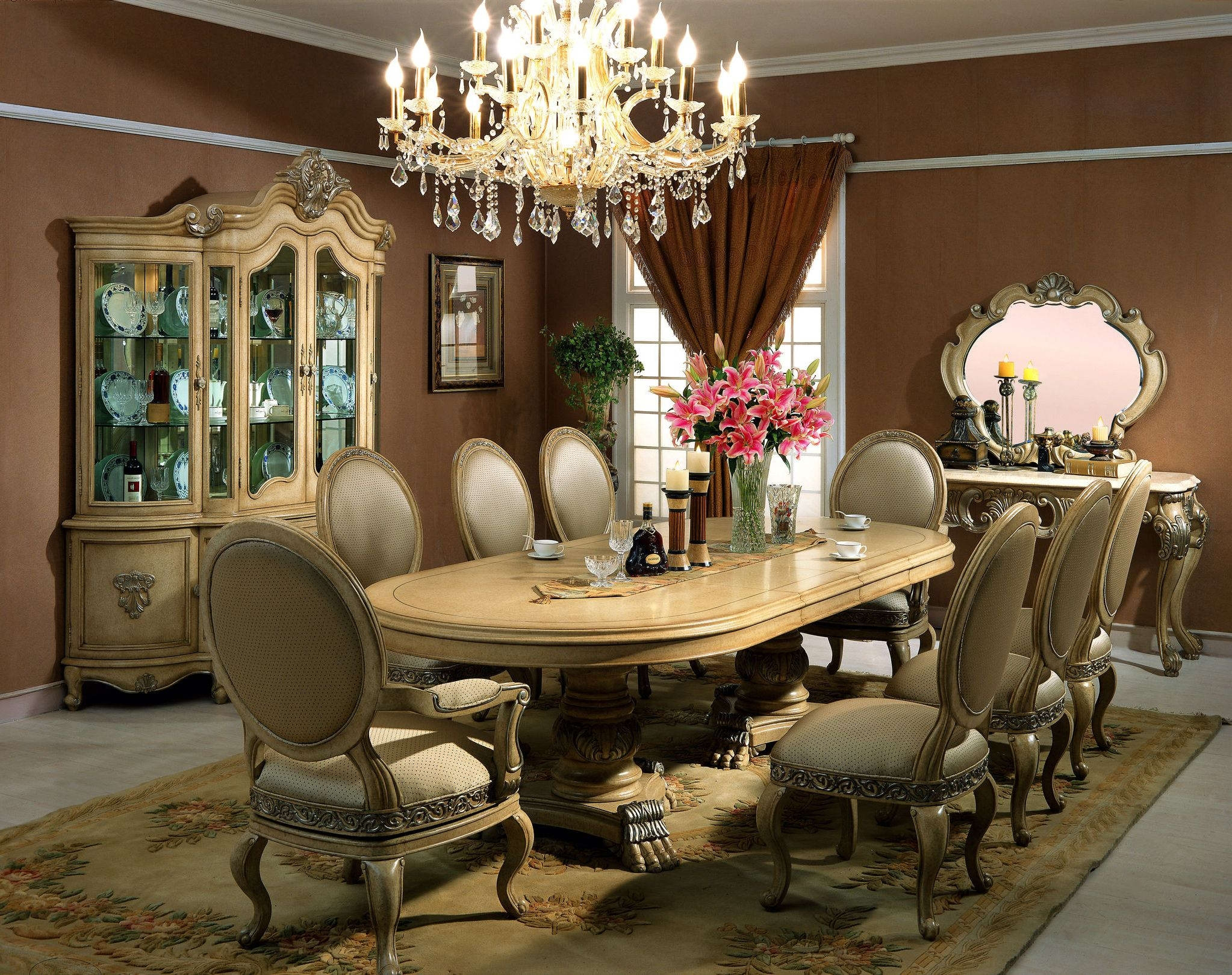 Dining Room Dining Chair Also Antique Crystal Chandelier Elegant Within Cream Crystal Chandelier (#8 of 12)