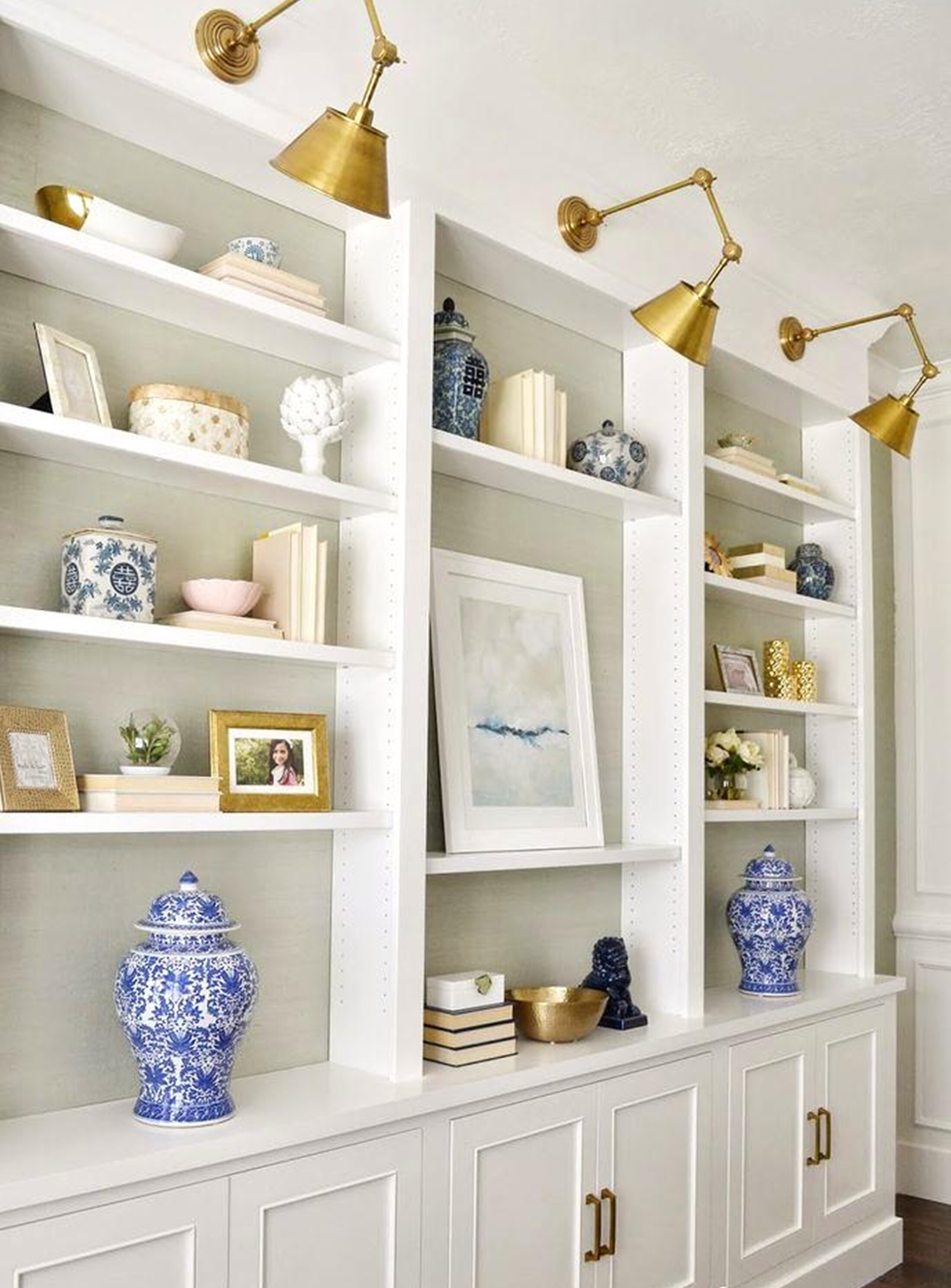 Ideas of library bookcase lighting