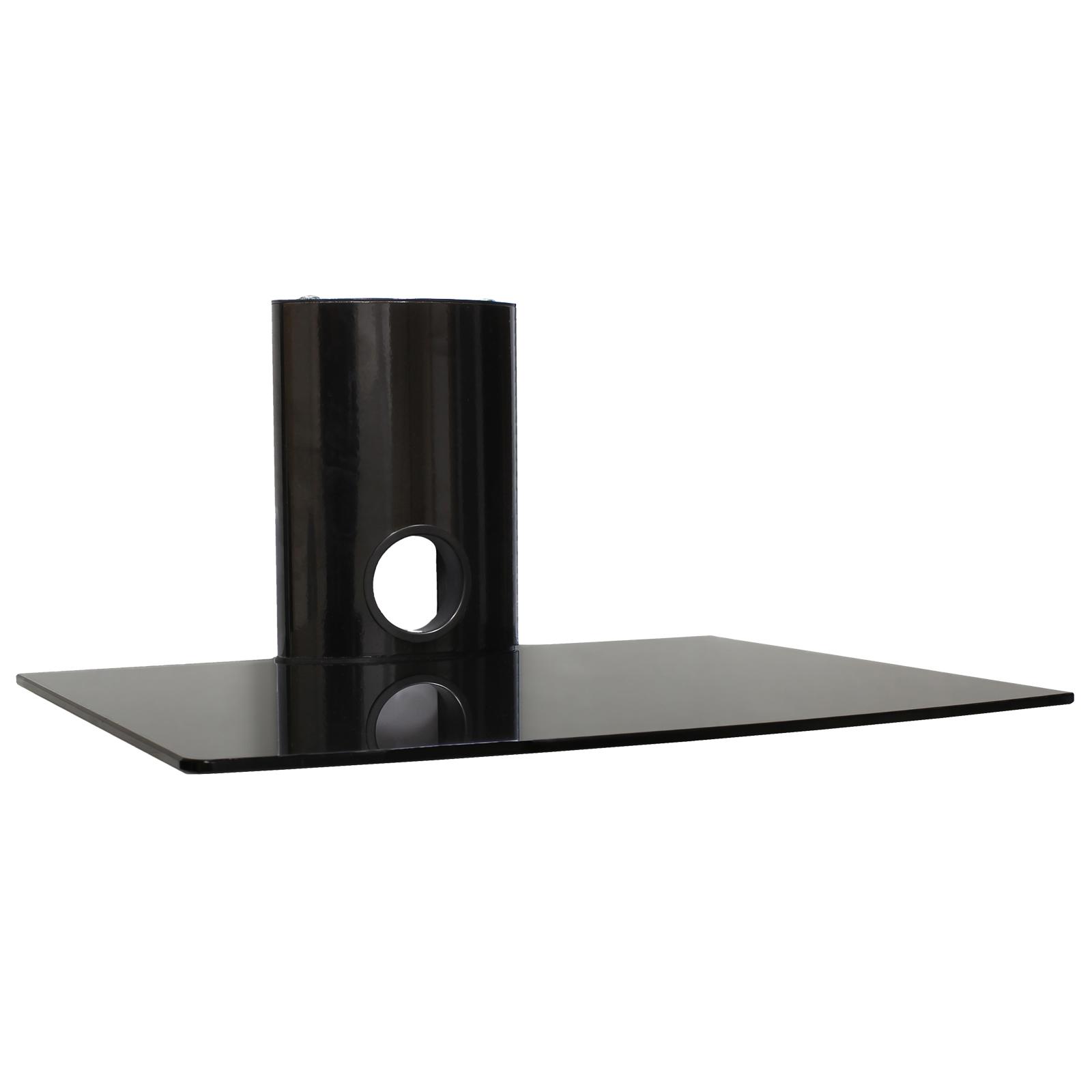 Diy Glass Floating Shelves Home Decorations With Regard To Black Glass Floating Shelves (View 8 of 12)
