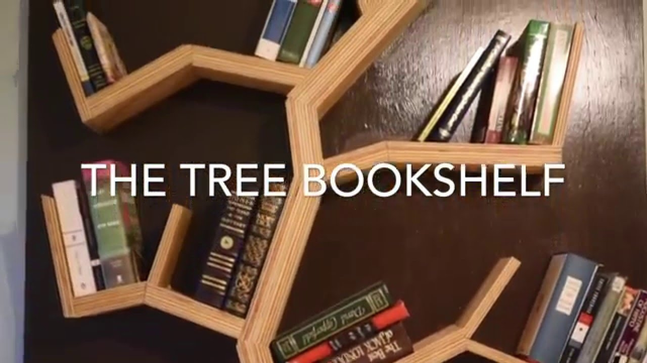 Diy How To Make A Tree Bookshelf Youtube Within Bookshelf (#10 of 15)