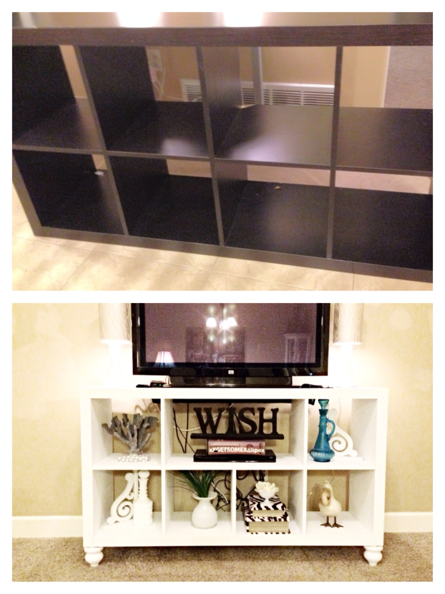 Diy Ikea Bookshelf To Tv Stand Ill Do It Myself Pinterest Inside Tv Unit With Bookcase (View 5 of 15)