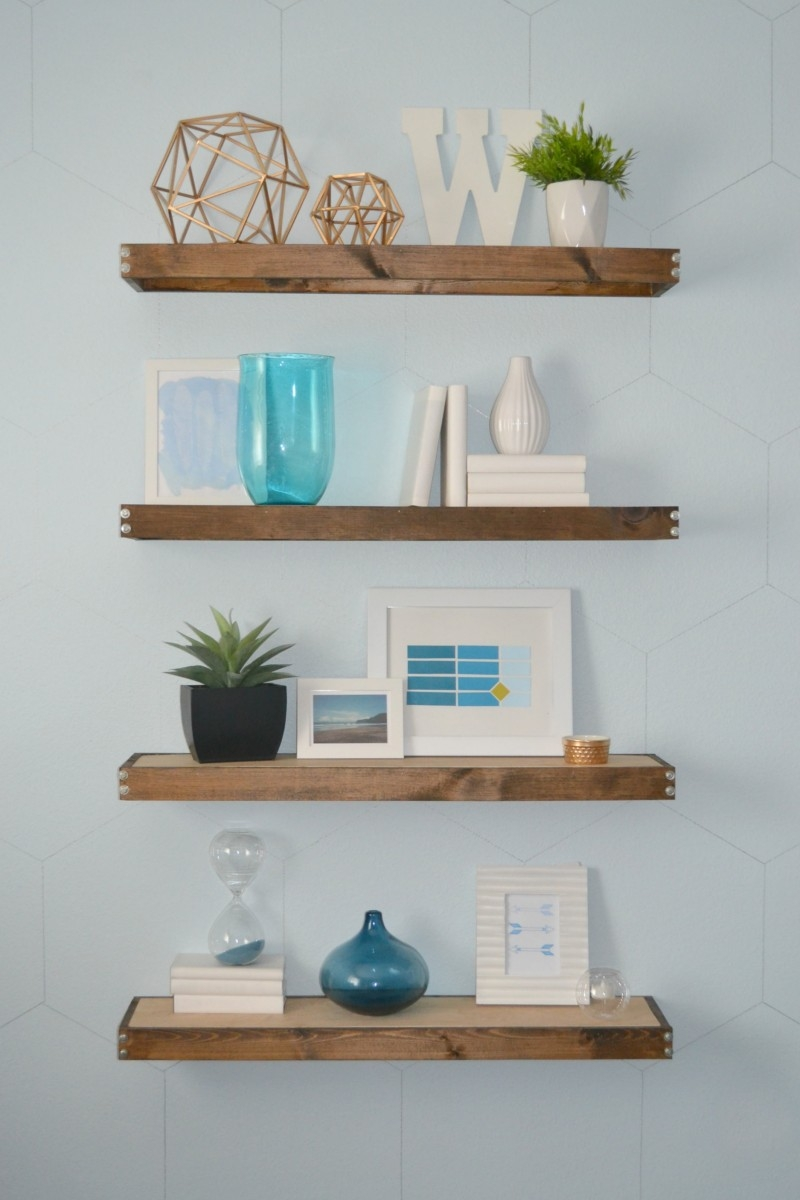 Diy Rustic Modern Floating Shelves Part One Throughout Floating Shelf (#4 of 15)