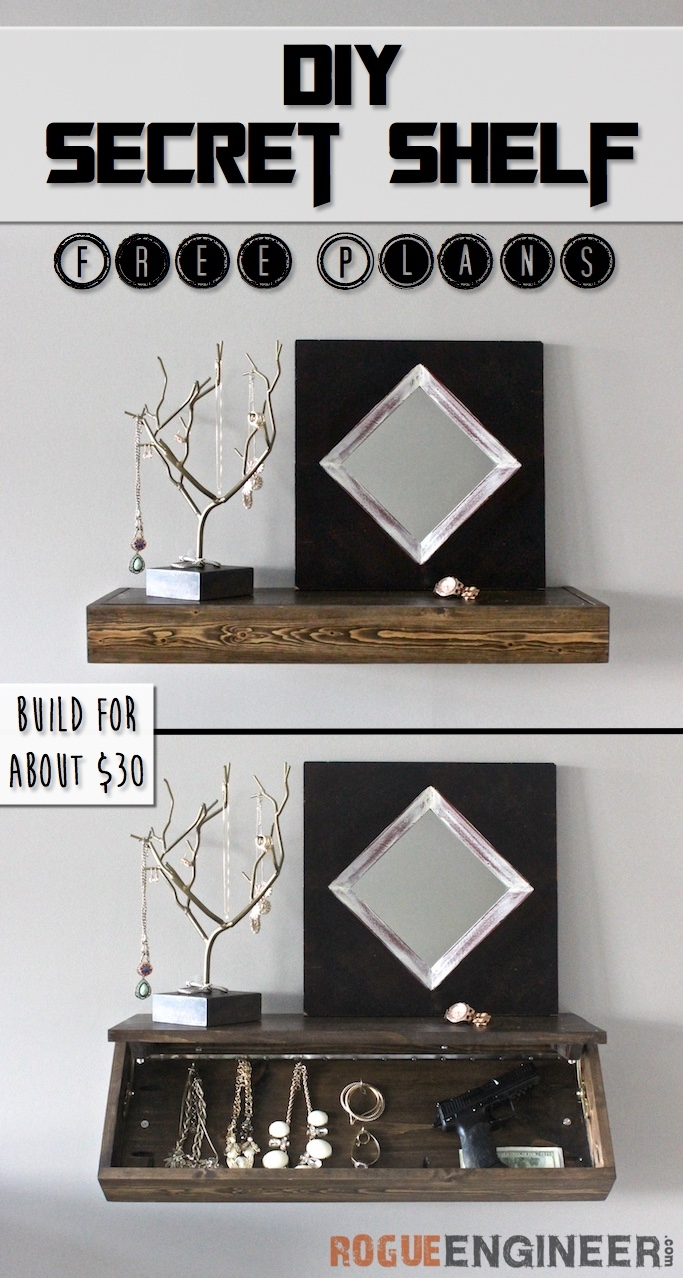 Diy Secret Floating Shelf Free Plans More Rogues Ideas In Free Floating Glass Shelves (#3 of 12)