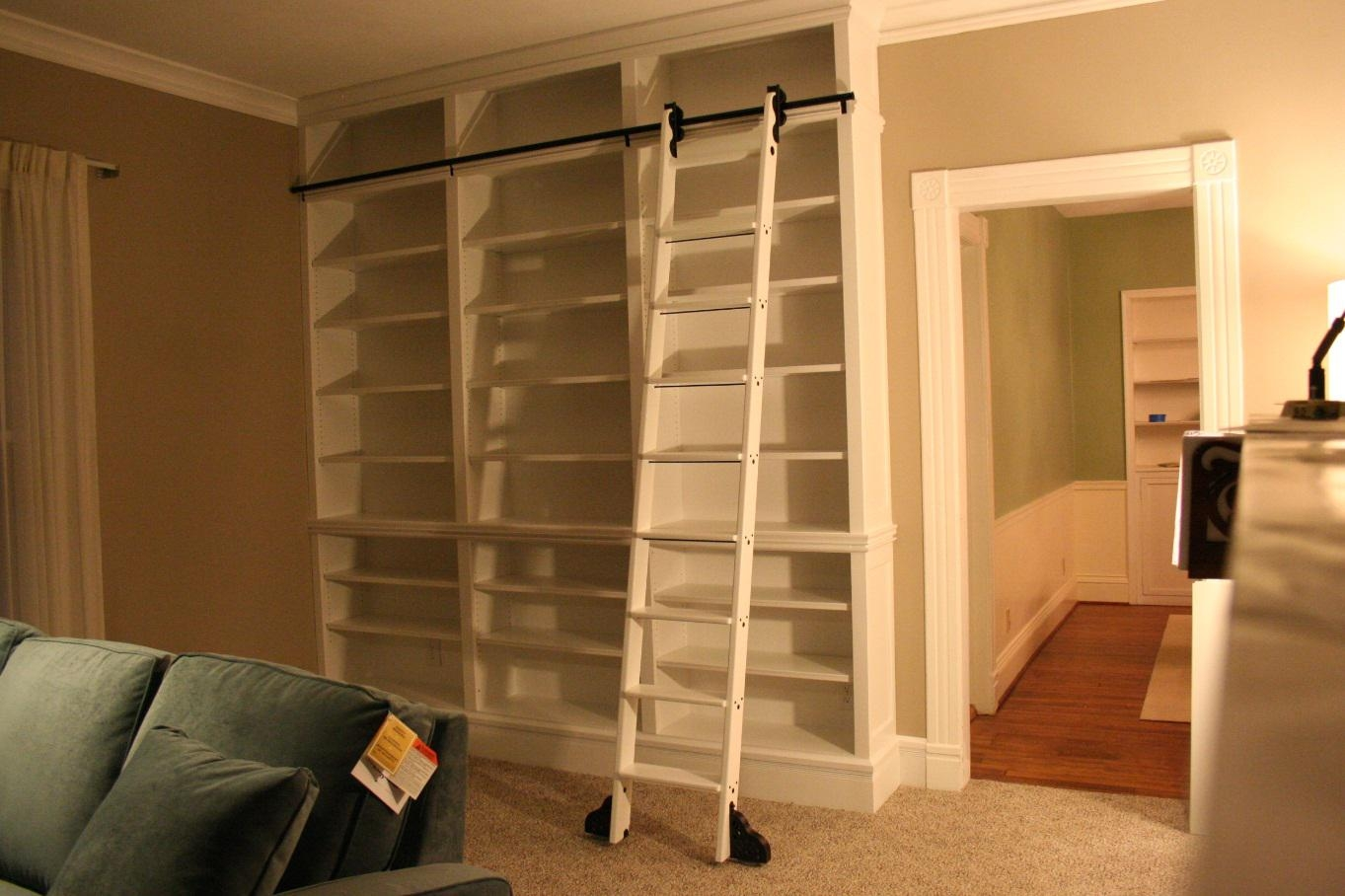 Do It Yourself Library Ladder Throughout Sliding Library Ladder (#5 of 15)