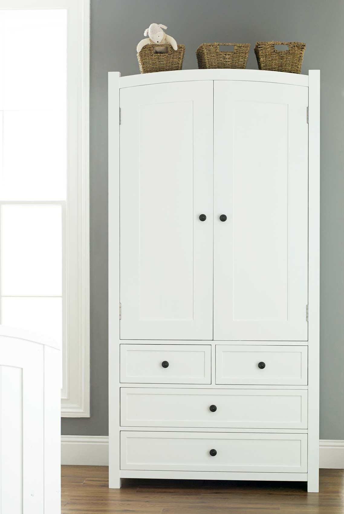 Doorless Kids Wardrobe With Drawers From Light Wood Material Within Wardrobes With Shelves And Drawers (View 13 of 15)