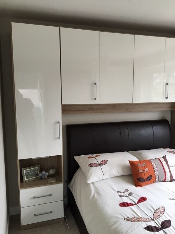 Double Wardrobe With Over Bed Storage Units Excellent Condition Within Overbed Wardrobes (View 8 of 15)