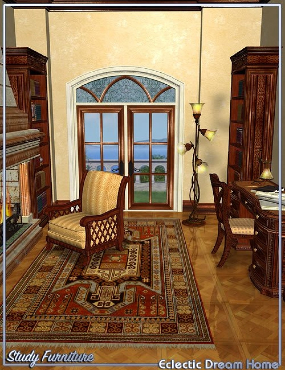 Dream Home Study Furniture Eclectic 3d Models And 3d Software Regarding Home Study Furniture (View 4 of 15)