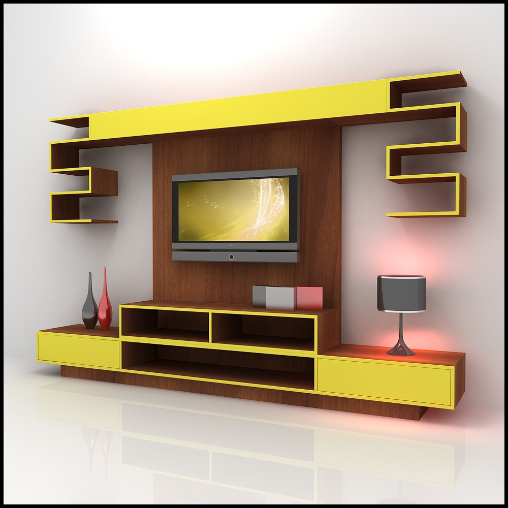 Dropdead Gorgeous Living Room Interior Futuristic Wall Unit With Tv Wall Units (#6 of 15)