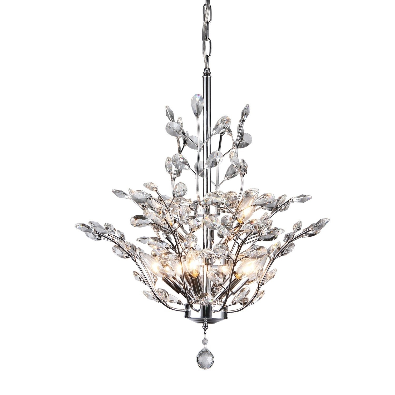 Dudley 9 Light Crystal Chandelier Reviews Joss Main With Regard To Branch Crystal Chandelier (#6 of 12)