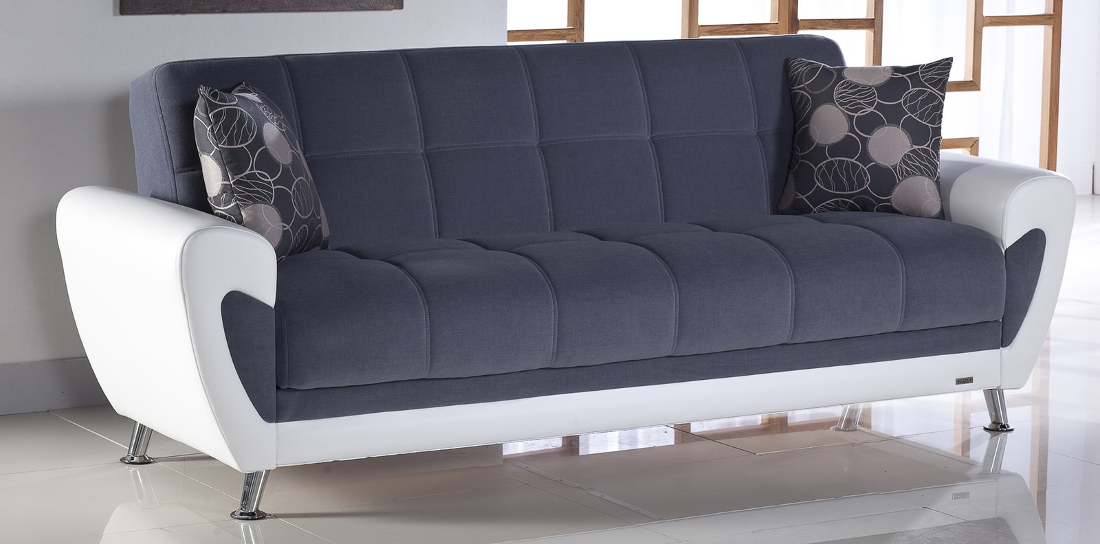 Duru Cozy Gray Convertible Sofa Bed Sunset Pertaining To Convertible Sofa Bed (#4 of 15)