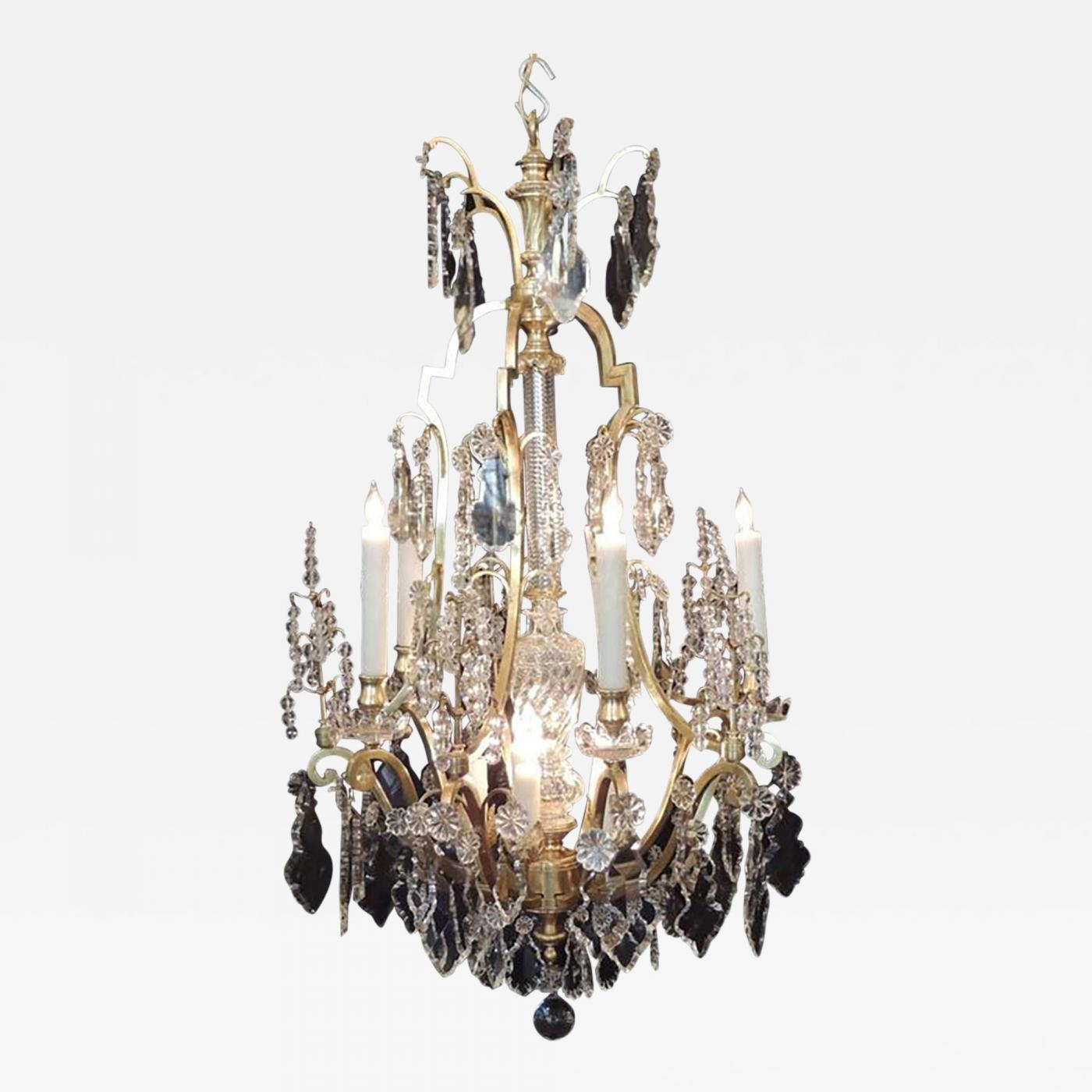 Early 20th C French Bronze Dor And Lead Crystal Chandelier Regarding Lead Crystal Chandelier (#9 of 12)