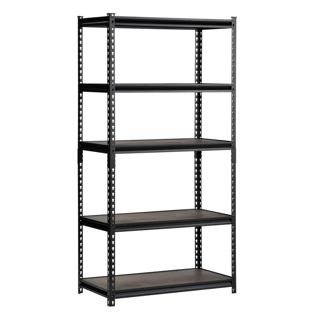 Edsal 72 In H X 48 In W X 24 In D 5 Shelf Steel Commercial For Free Standing Shelving Units Wood (View 12 of 15)