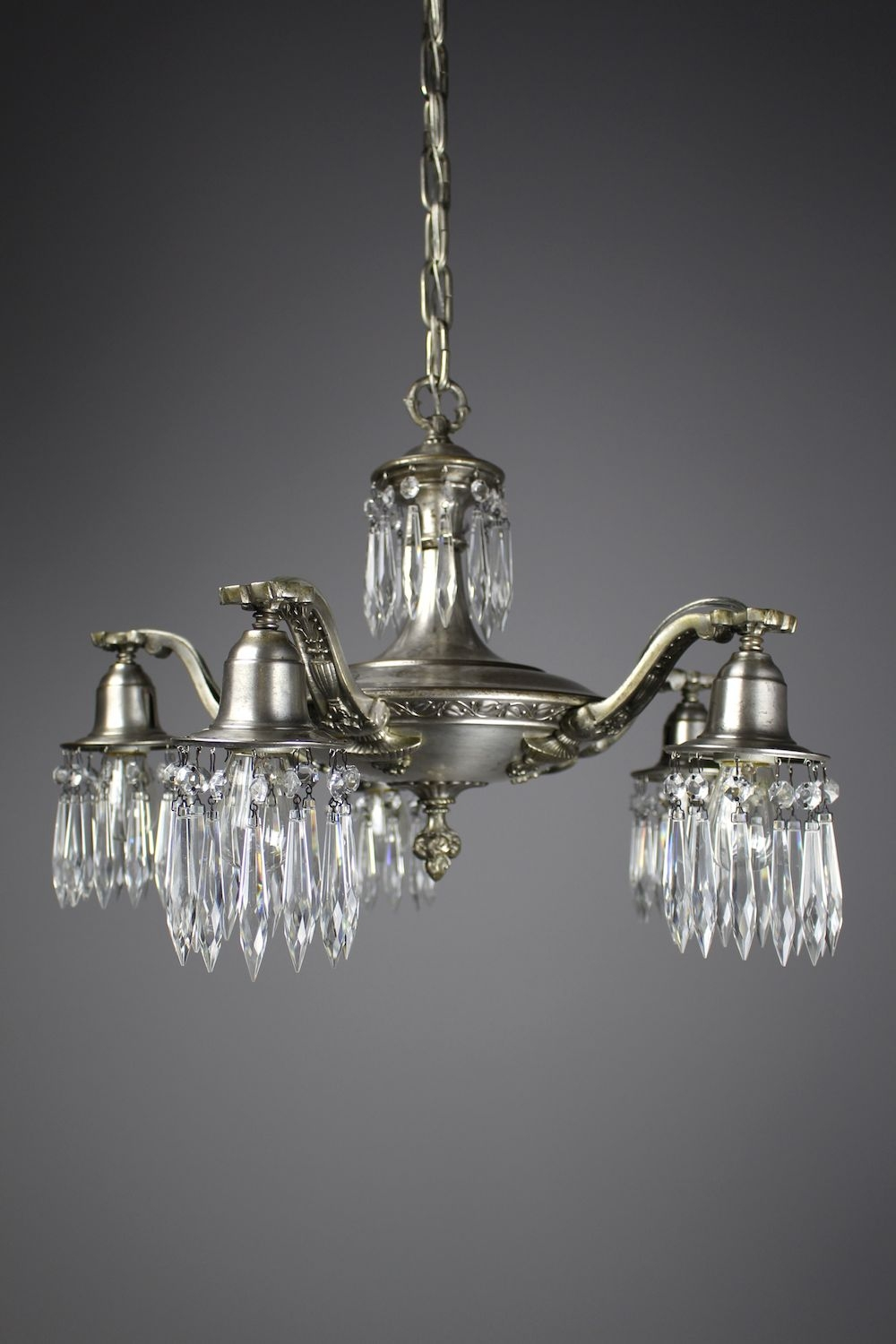 Edwardian Crystal Swag Chandelier 5 Light For Edwardian Chandeliers (#6 of 12)