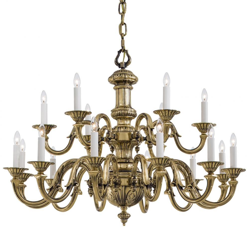 Popular Photo of Traditional Brass Chandeliers