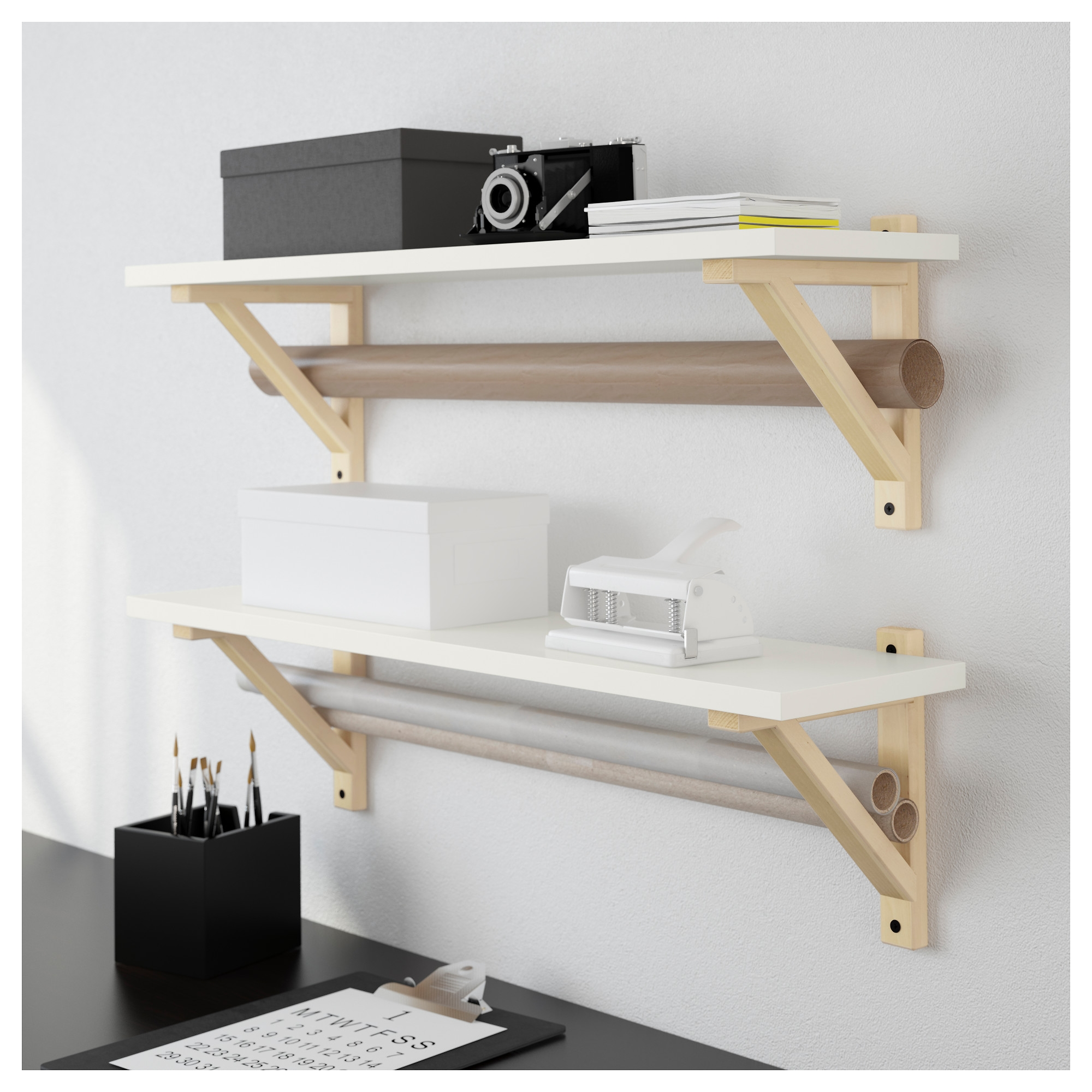Ek Sten Ek Valter Wall Shelf Ikea With Wall Shelves (#5 of 12)