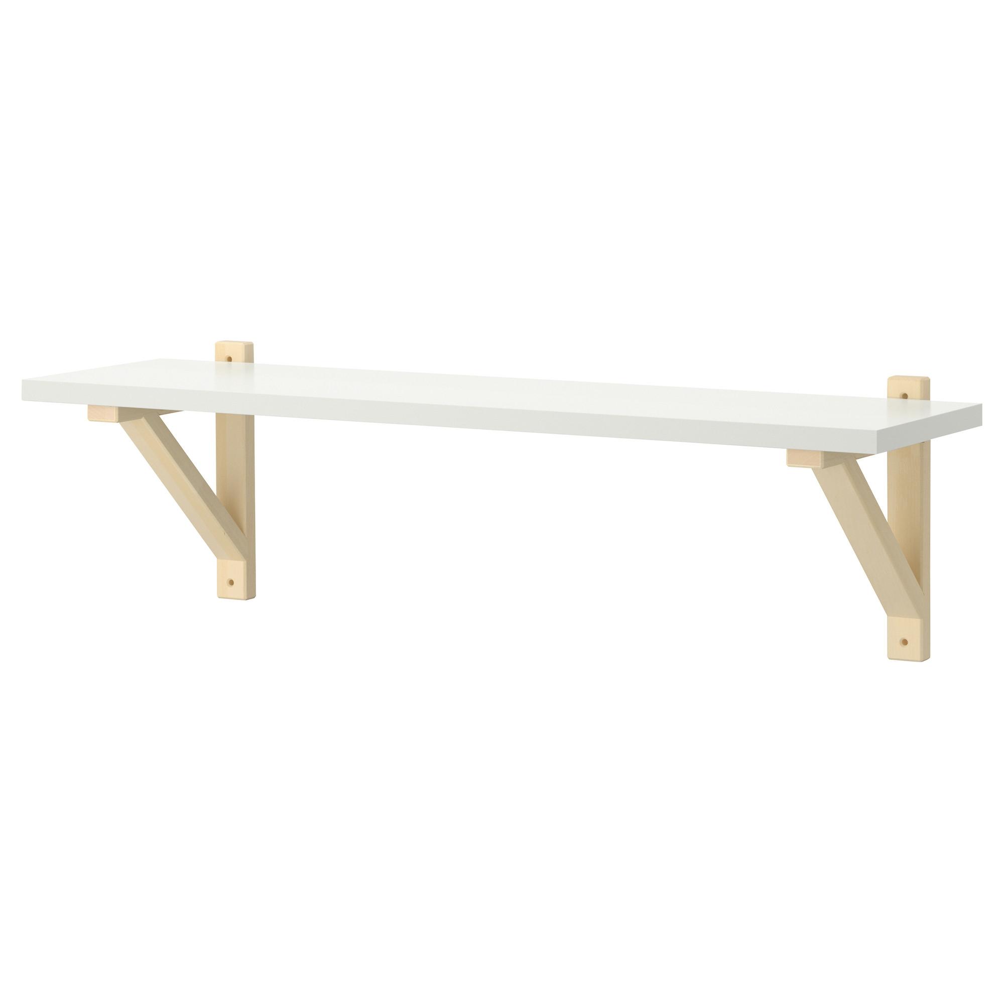 Ek Valterek Sten Wall Shelf Whitebirch 79×19 Cm Ikea For Wall Shelf (#3 of 12)