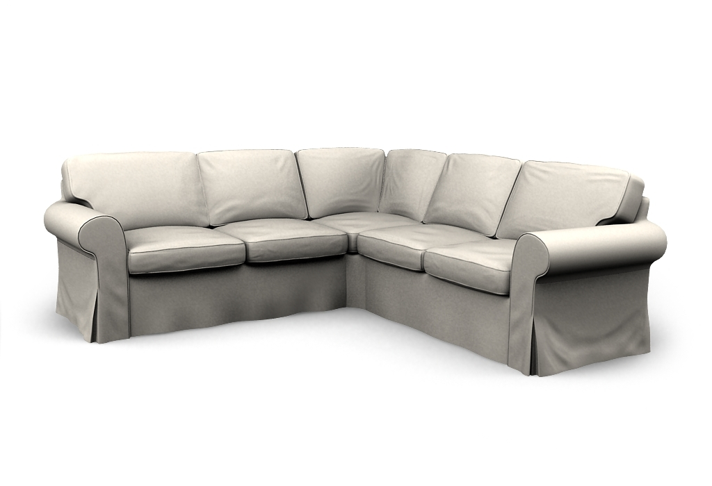 Ektorp Corner Sofa 22 Cover Event White Covercouch With 2×2 Corner Sofas (View 14 of 15)