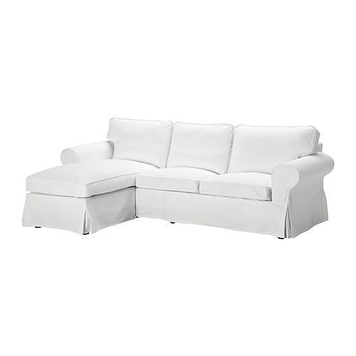 Ektorp Two Seat Sofa And Chaise Longue Blekinge White Ikea In IKEA Chaise Lounge Sofa (#7 of 15)